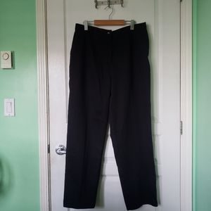 Haggar Womens Black Cotton Pants Size 18
